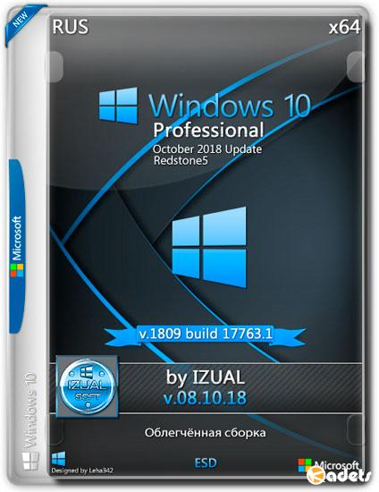 Windows 10 Professional x64 RS5 1809 v.08.10.18 by IZUAL (RUS/2018)