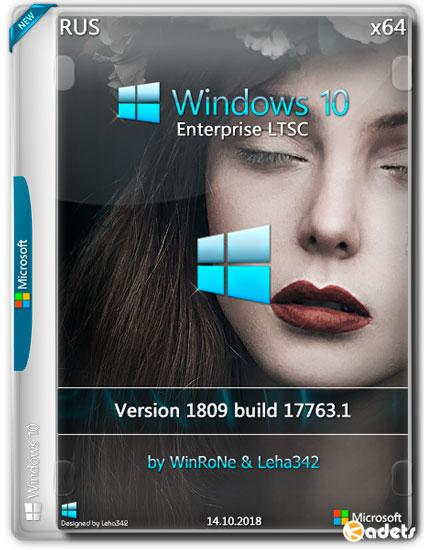 Windows 10 Enterprise LTSC x64 1809 by WinRoNe & Leha342 (RUS/2018)